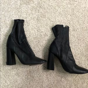 Zara genuine leather sock boot